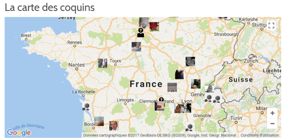 google map geolocalisation des membres libertins